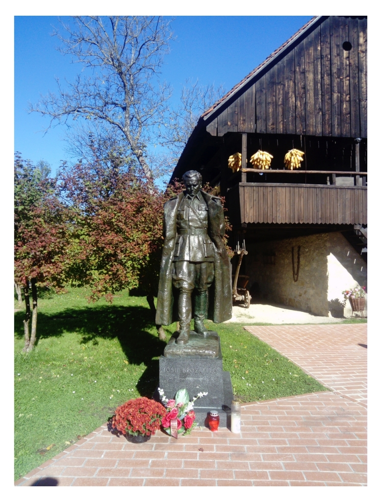 Sculpture of Tito in his birth place, small village in the north of Croatia, called Kumrovec. It is still there, and the celebration of his birthday in May happens there every year.